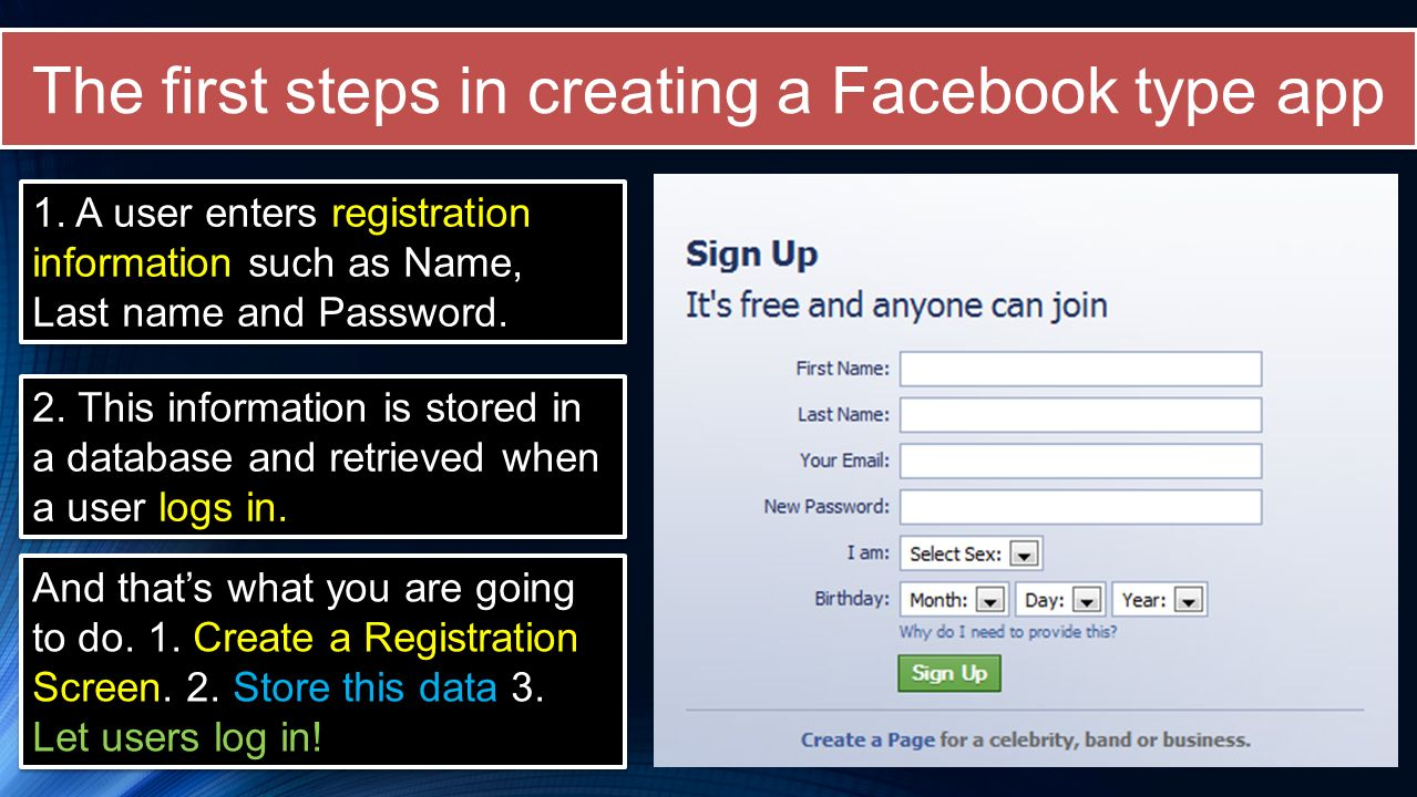 Create an online booking system (login/registration) - ppt