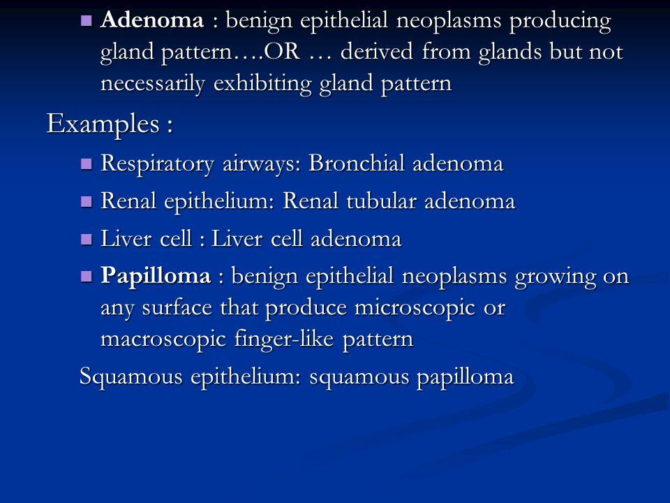 papilloma benign epithelial neoplasm