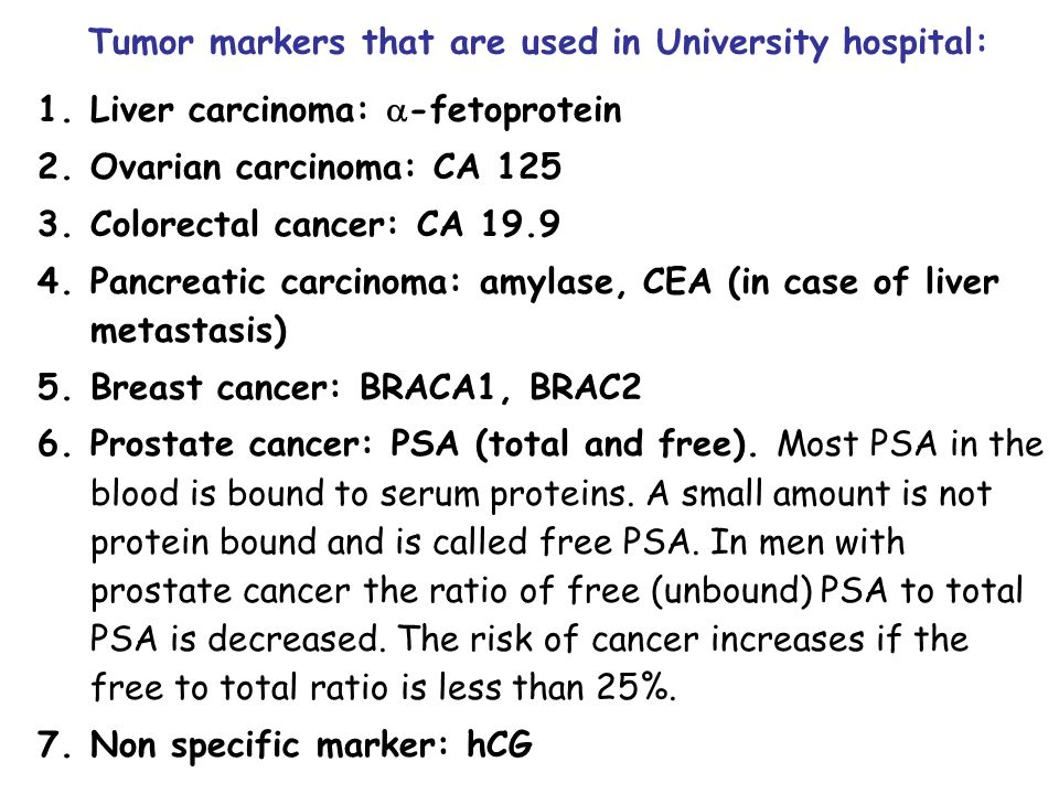 Tumor Markers Basic Concepts And Terminology Cancer Ppt Download