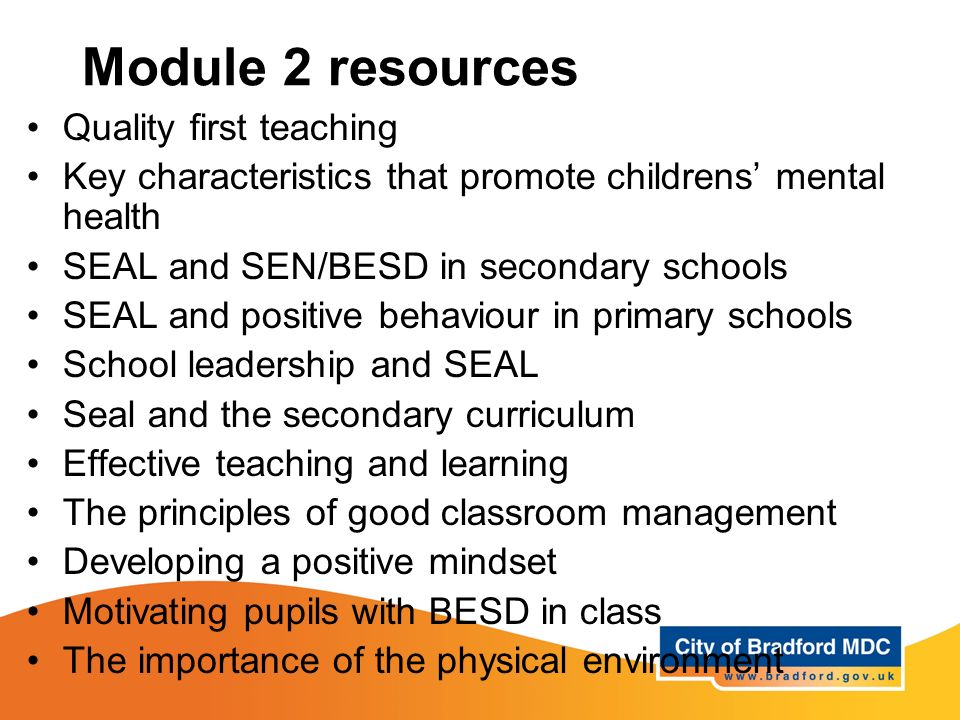 Module 2 resources Quality first teaching