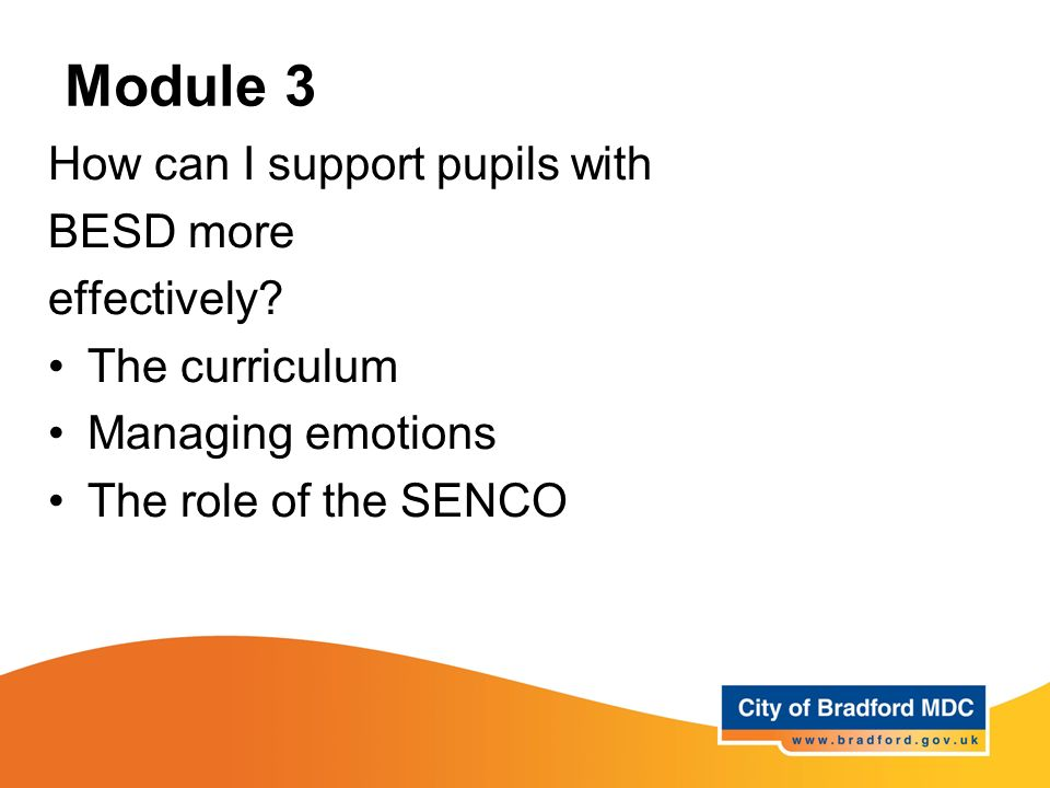 Module 3 How can I support pupils with BESD more effectively