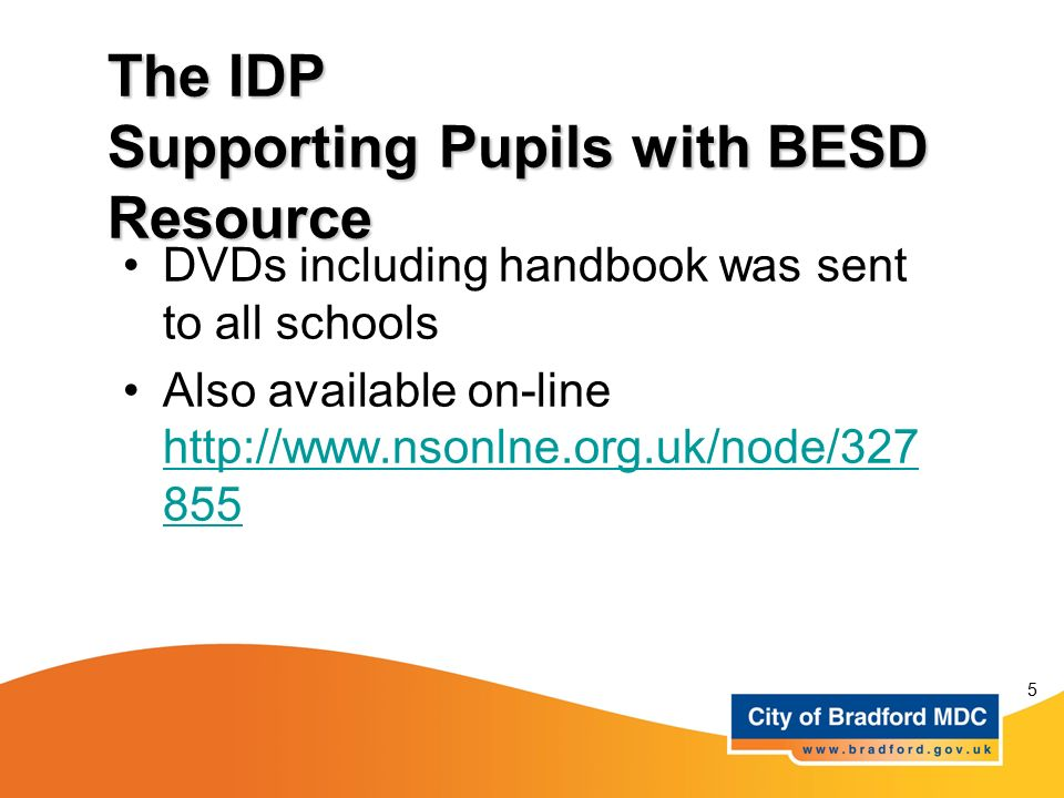 The IDP Supporting Pupils with BESD Resource