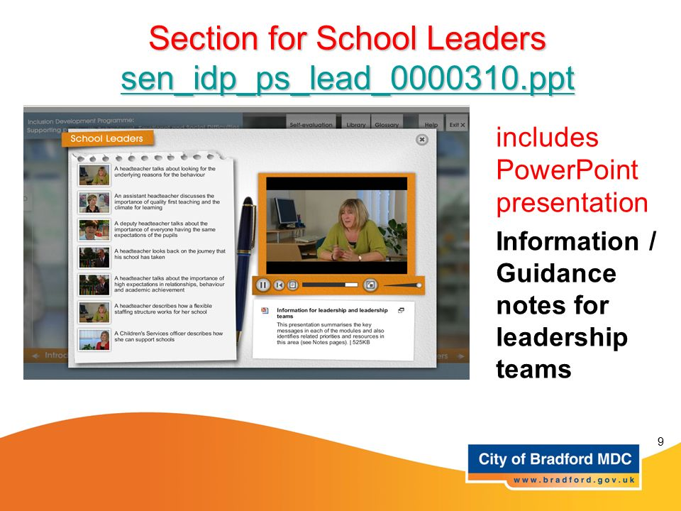 Section for School Leaders