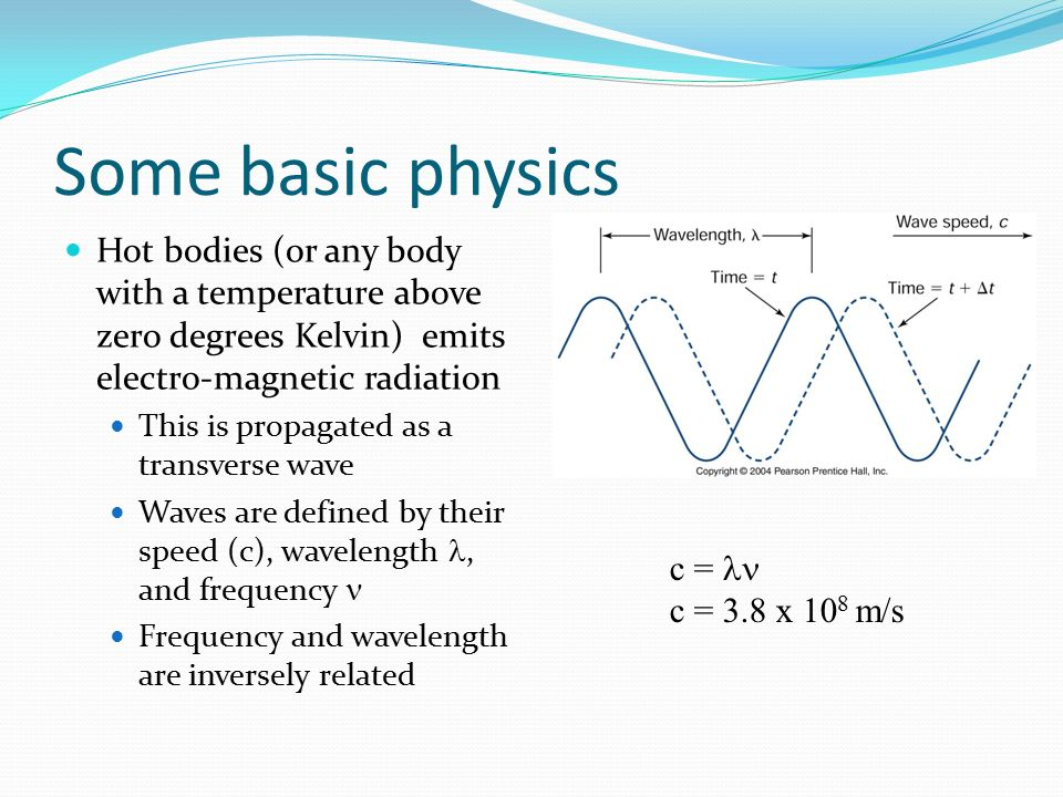 Some basic physics Hot bodies (or any body with a temperature above zero degrees Kelvin) emits electro-magnetic radiation.