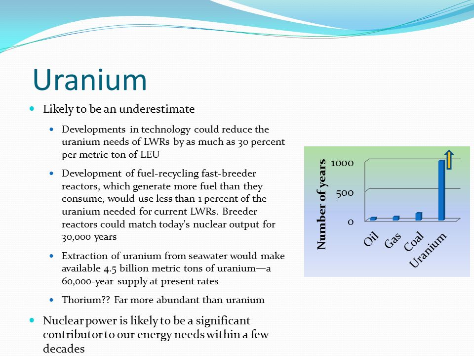 Uranium Likely to be an underestimate