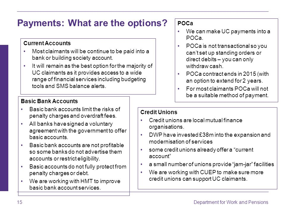 Dwp Bank Account