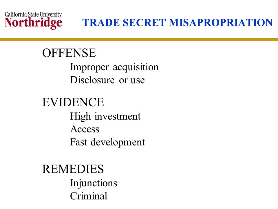 TRADE SECRET MISAPROPRIATION