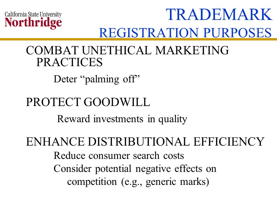 TRADEMARK REGISTRATION PURPOSES