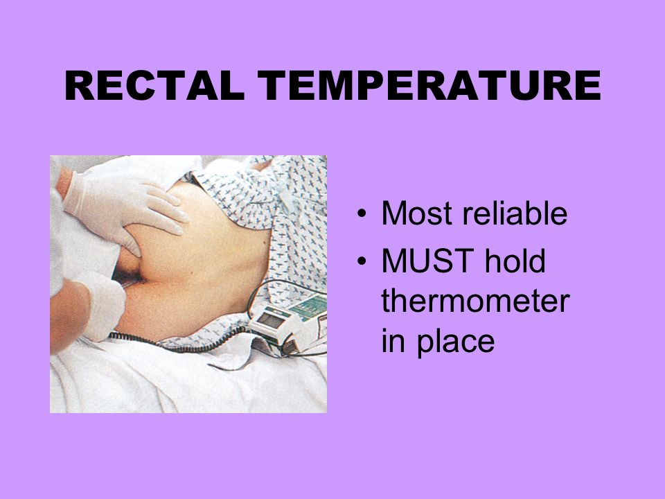 Rectal temperature for adults