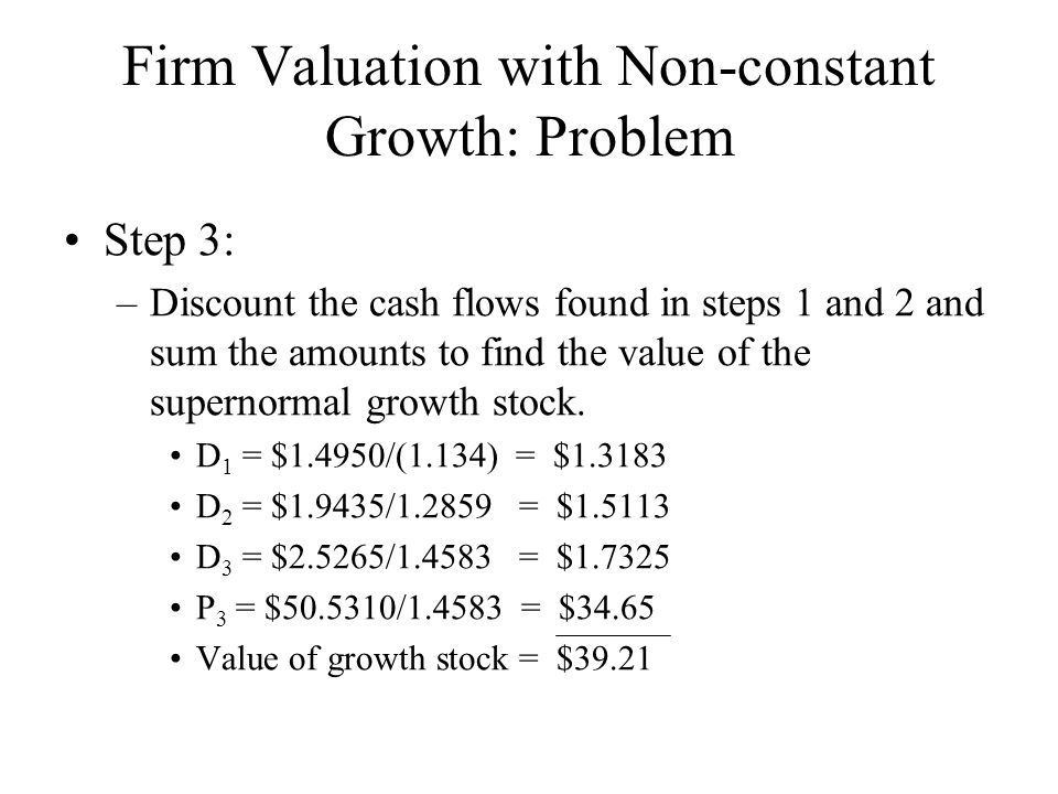 Constant growth calculator for stock valuation