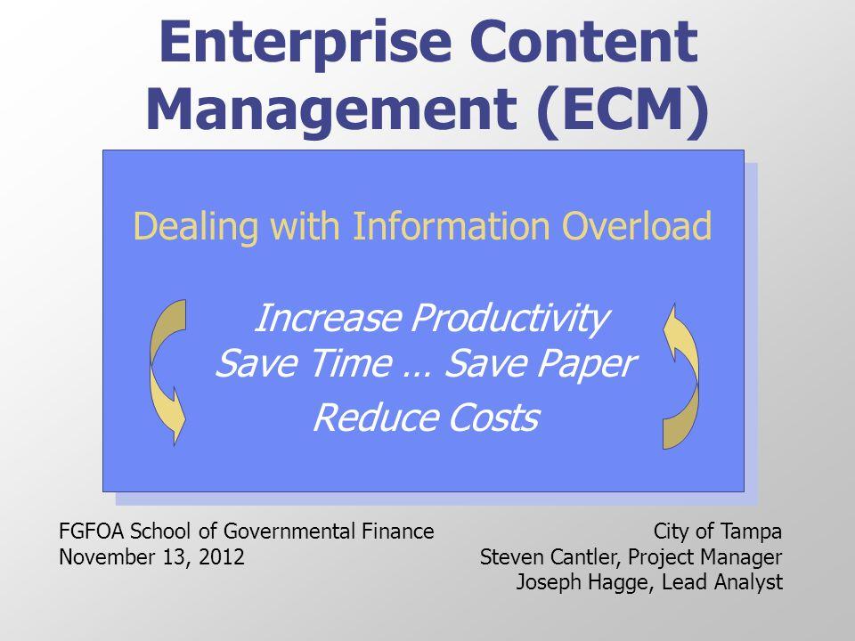 Enterprise Content Management (ECM) - ppt video online downl