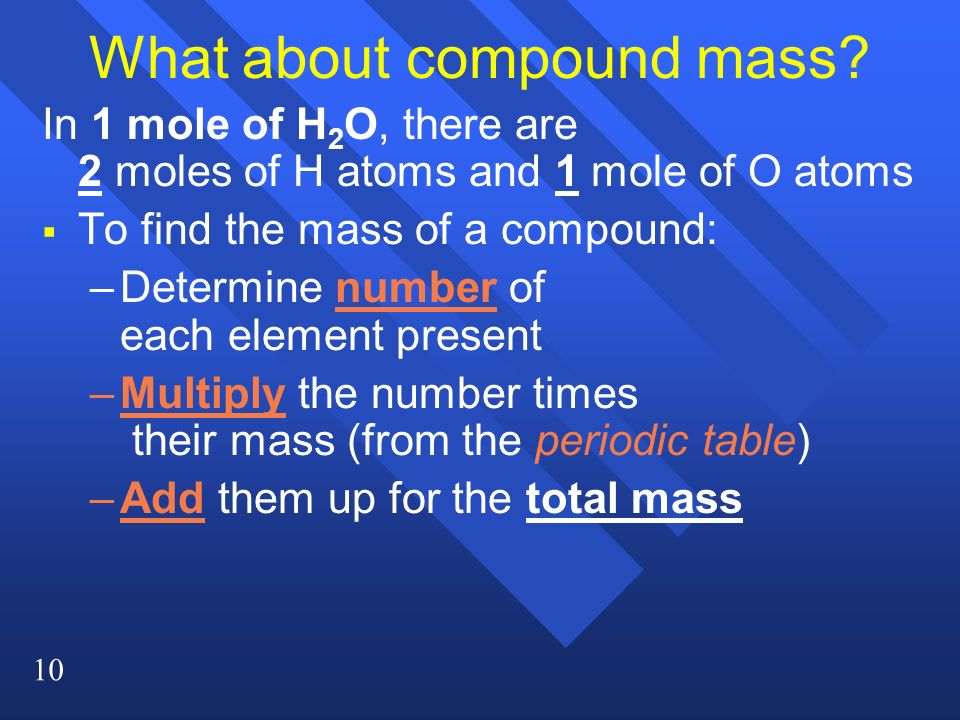 What about compound mass