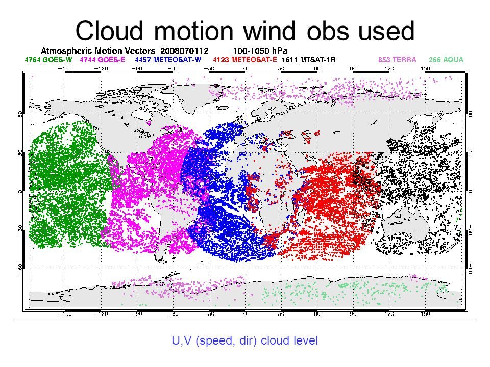 Cloud motion wind obs used