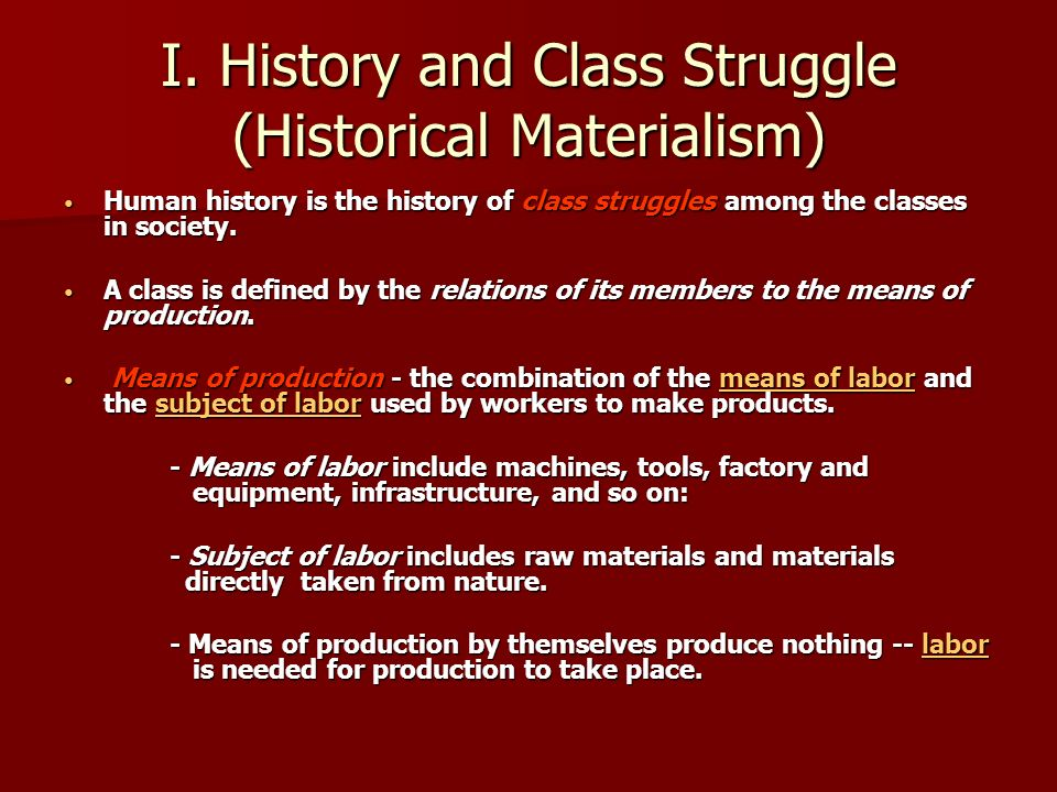 what are the tenets of marxism