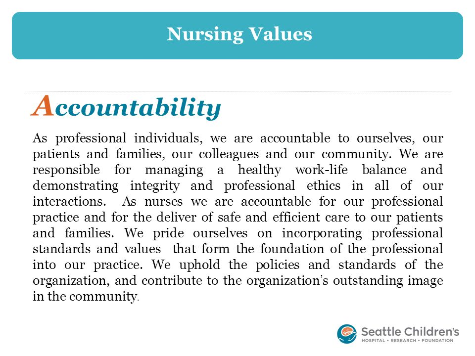 Accountability Nursing Values
