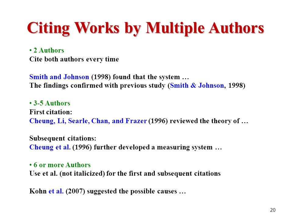 Avoiding plagiarism and citing sources of information ppt video citing works by multiple authors ccuart Images