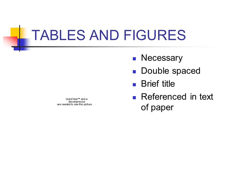 TABLES AND FIGURES Necessary Double spaced Brief title