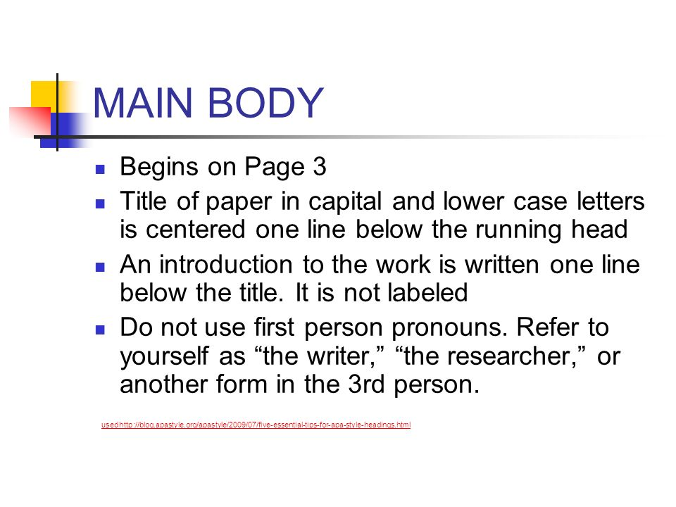MAIN BODY Begins on Page 3