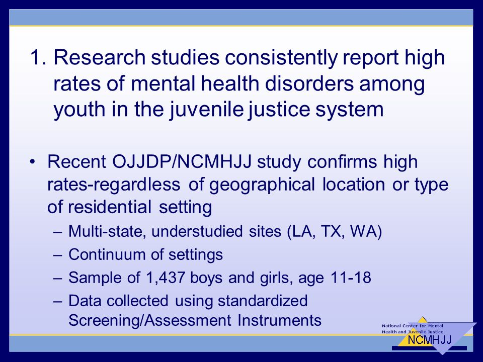 Mental Health and Juvenile Justice: Issues and Trends - ppt download