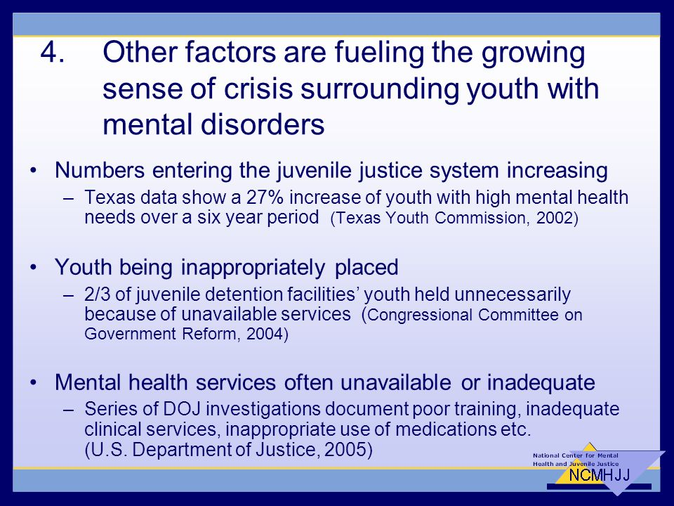 Mental Health And Juvenile Justice Issues And Trends Ppt Download