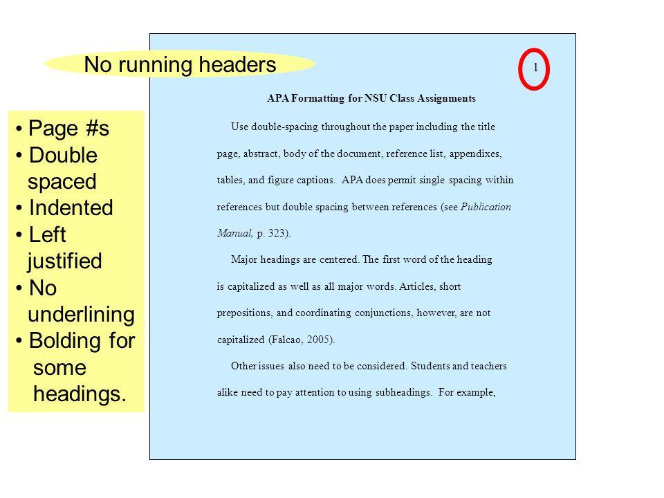 apa formatting  preparing for final review