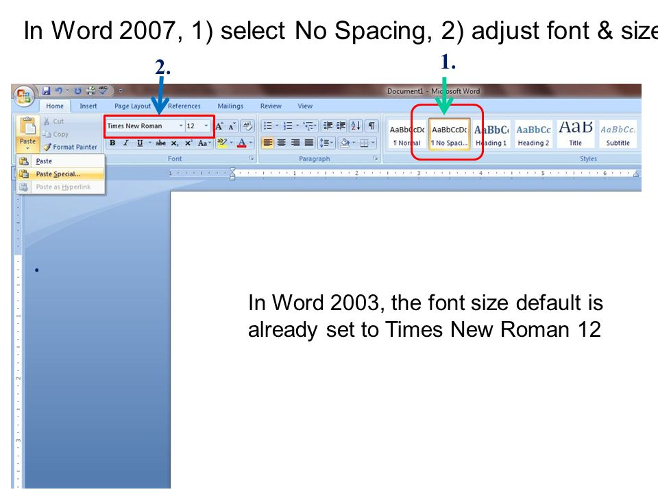 how to set up apa format in word 2007