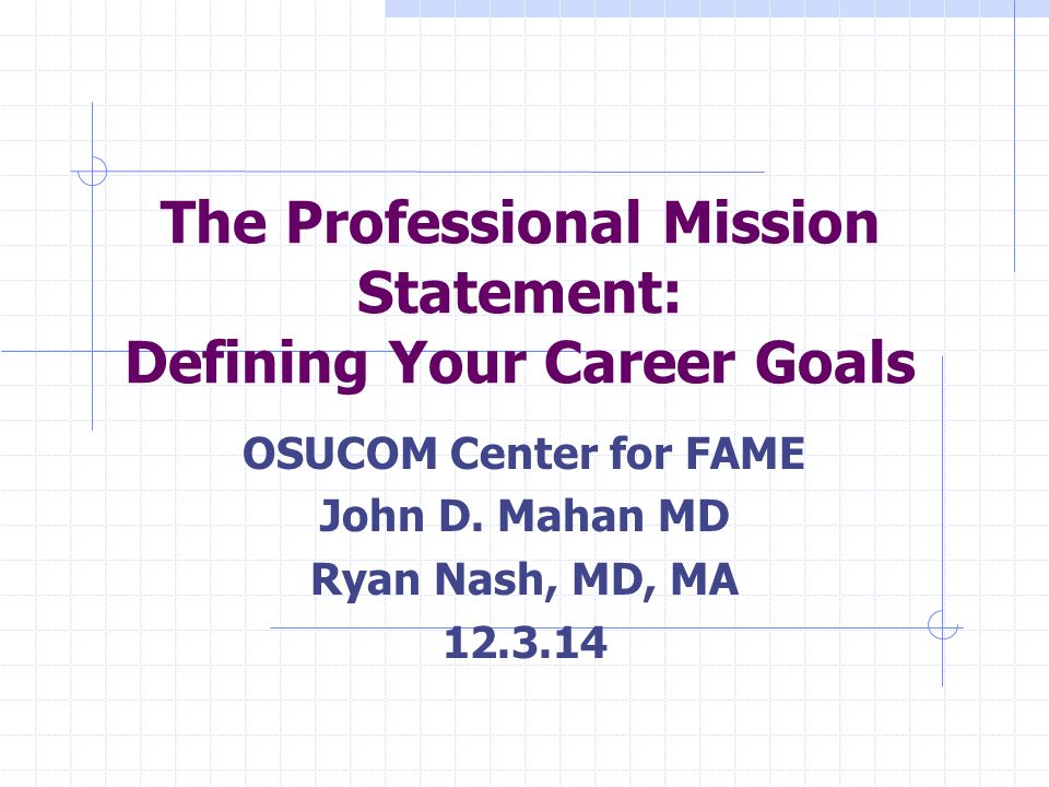 academic and professional goals statement