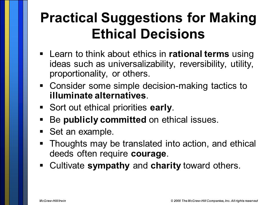 Making Ethical Decisions in Business - ppt video online download