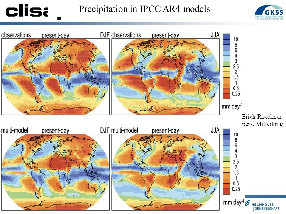 Precipitation in IPCC AR4 models