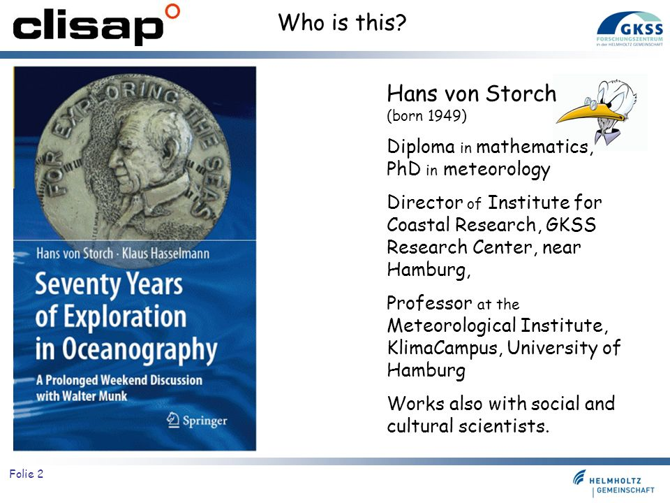 Who is this Hans von Storch (born 1949)