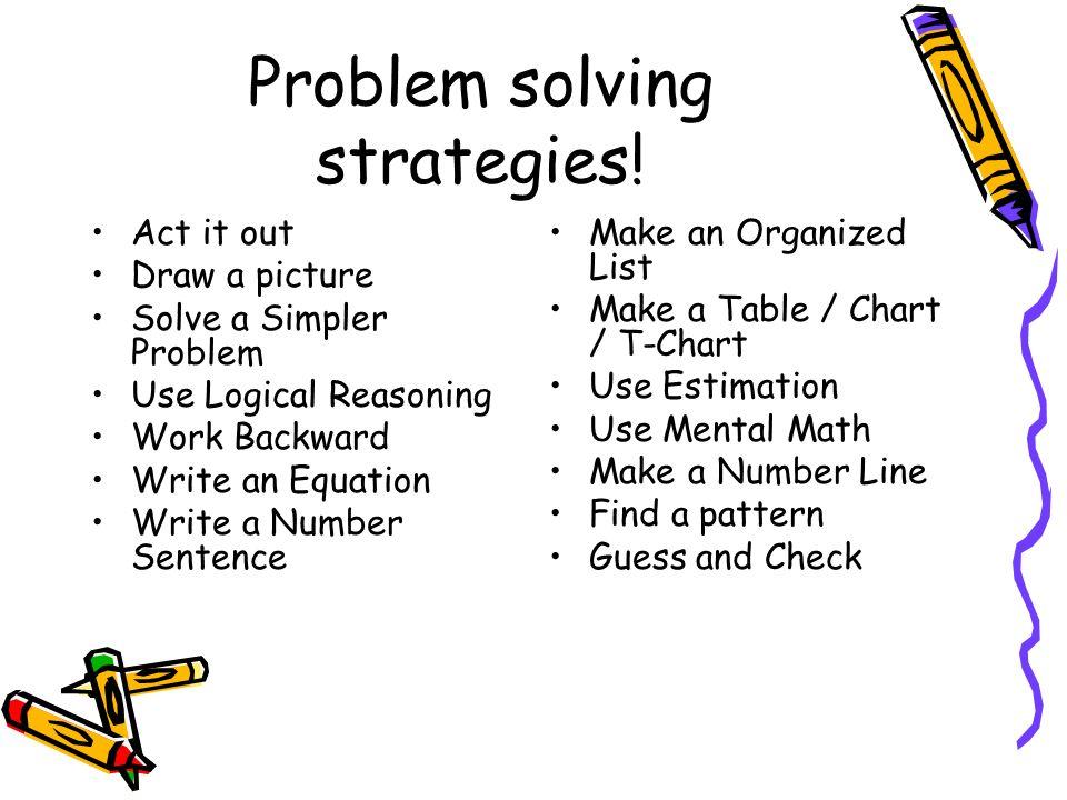 what are problem solving techniques