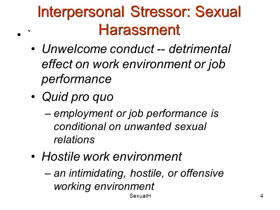 Sexual harassment types quid pro quo contributions