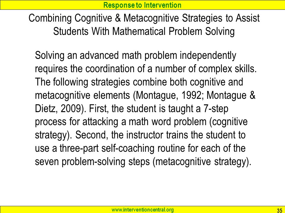 RTI: Mathematics Interventions Jim Wright - ppt download
