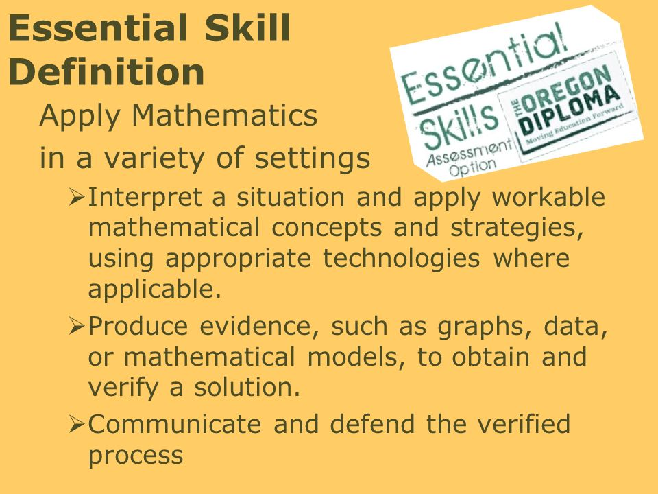 The Essential Skill of Mathematics - ppt download