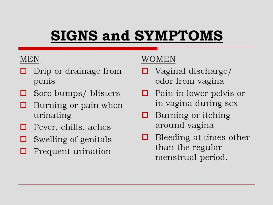 Vaginal and penile burning during sex