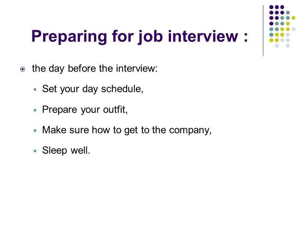 Job interview ppt video online download