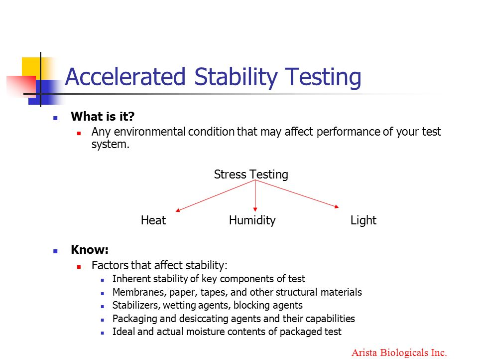 Accelerated Stability Testing - ppt video online download
