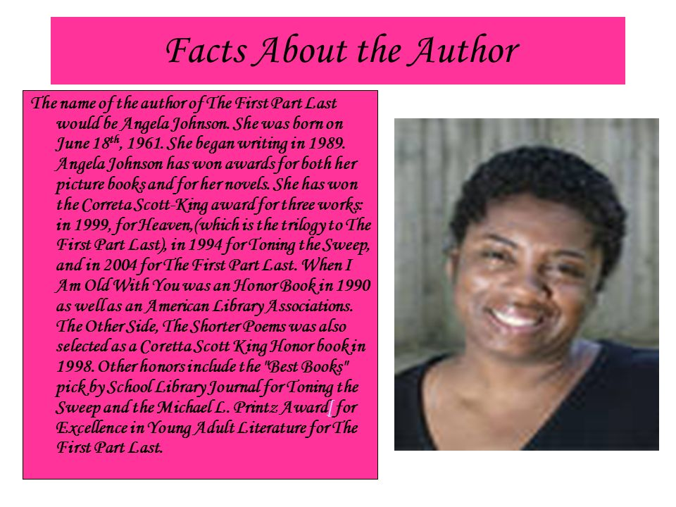 The First Part Last By Angela Johnson Ppt Video Online Download