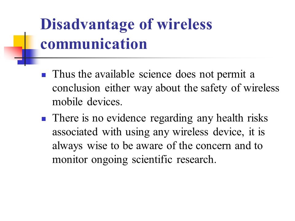 conclusion of wireless communication