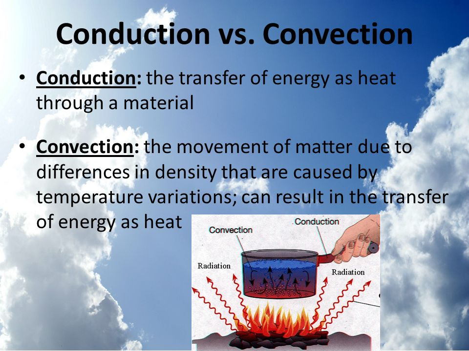 Conduction vs. Convection