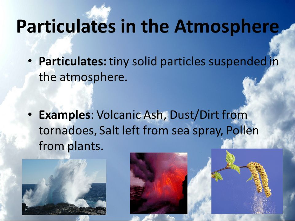 Particulates in the Atmosphere