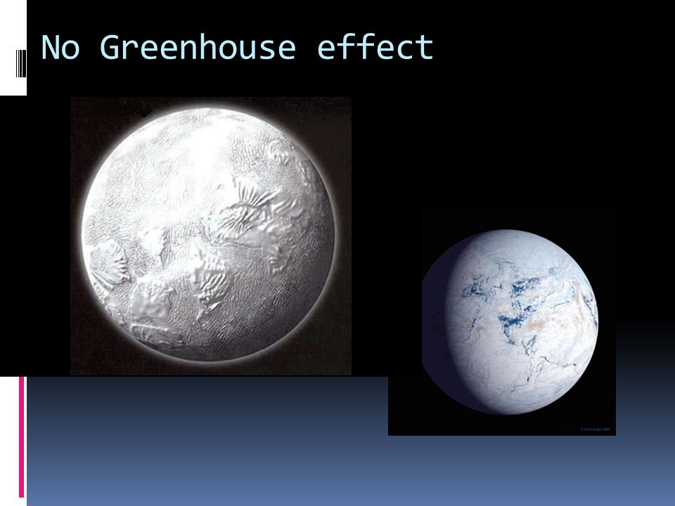 No Greenhouse effect