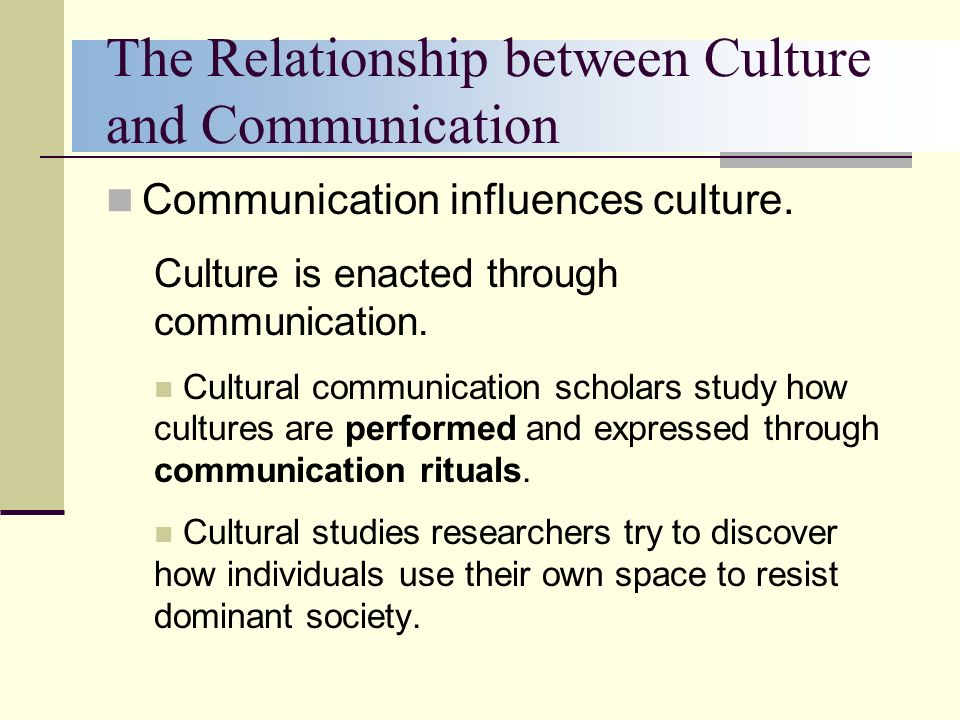 the relationship between culture and society
