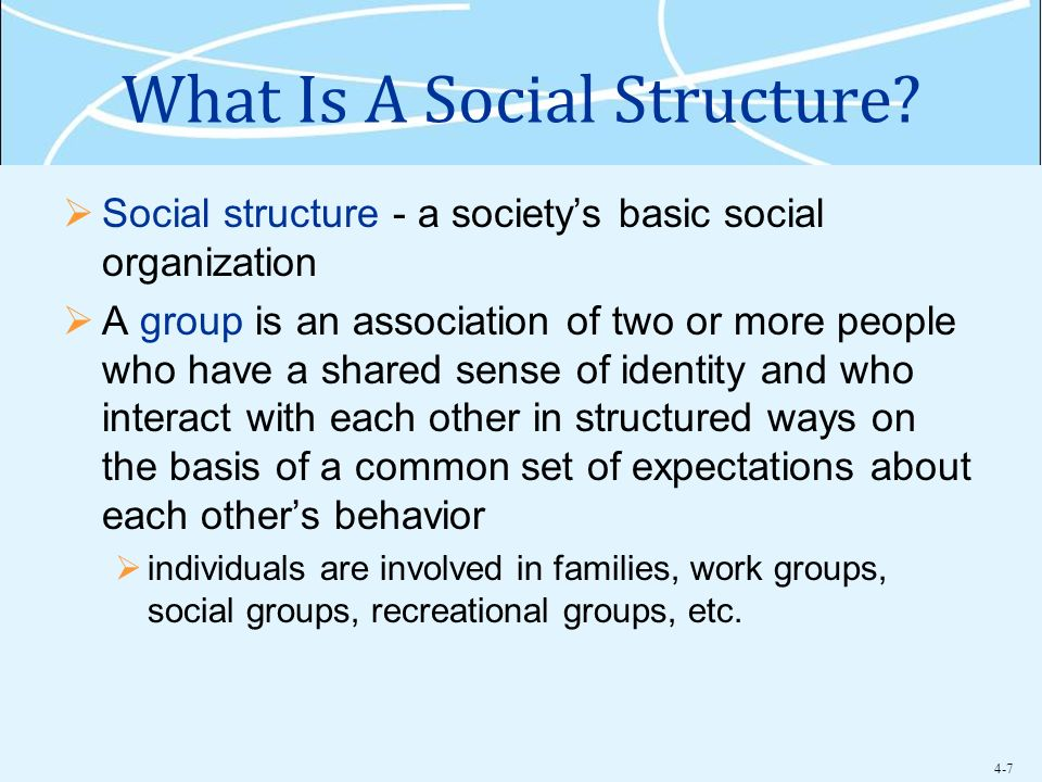 What Is A Social Structure