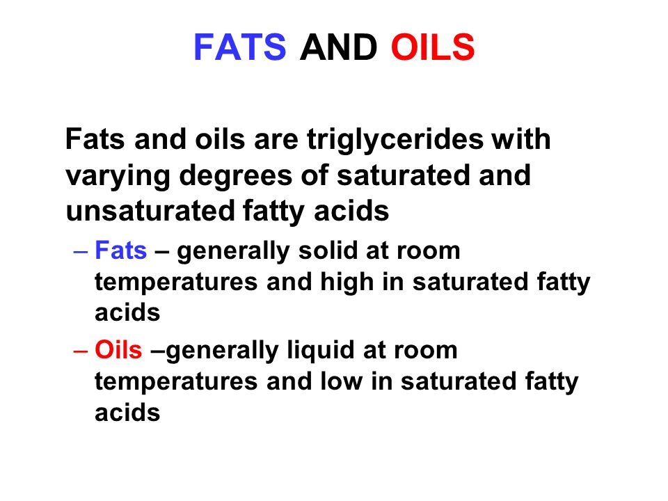 Triglycerides Are Esters Of Glycerol And Fatty Acids Ppt