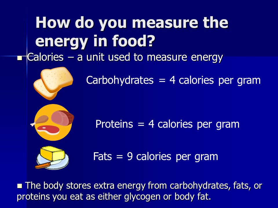 How do you measure the energy in food