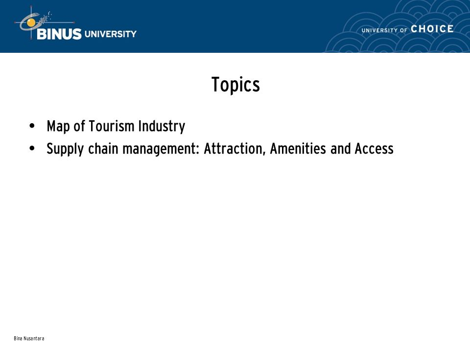 tourism supply chain definition