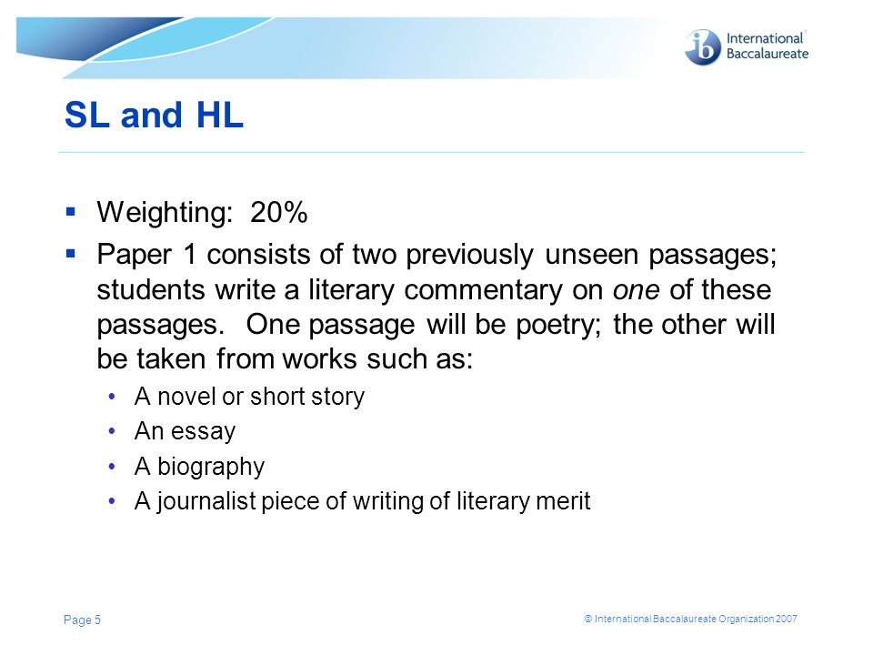 Paper 1: Guided Literary Analysis Literary Commentary - ppt download