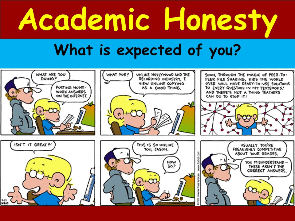 Academic Honesty What is expected of you