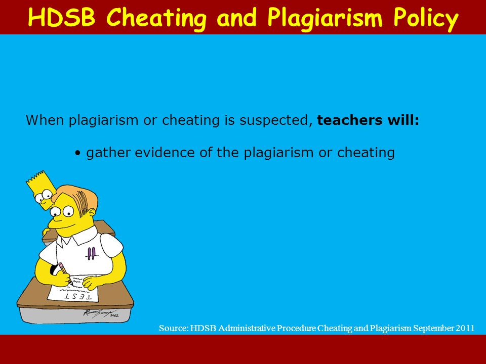 HDSB Cheating and Plagiarism Policy